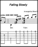 Falling Slowly - Score and Tab  - Instant Download