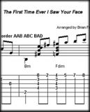 The First Time Ever I Saw Your Face - Score and Tab  - Instant Download